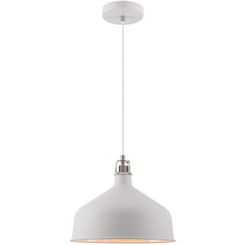 Ceiling Pendant Light Fitting Sand White Satin Nickel White Lekki Blake LEK3049