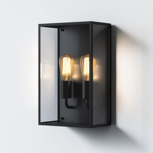 Astro Messina Twin Outdoor Wall Light in Textured Black 1183027