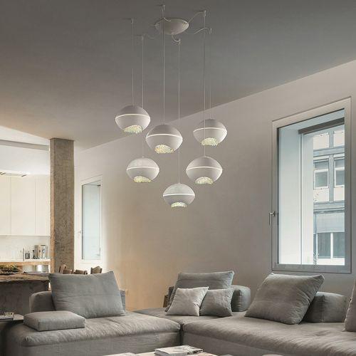 Masiero Blink Suspension 6 Light LED Crystal Ceiling Pendant BLINK-S6-V95