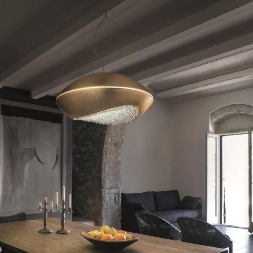 Masiero Blink Suspension LED Crystal Ceiling Pendant BLINK-S42-F01