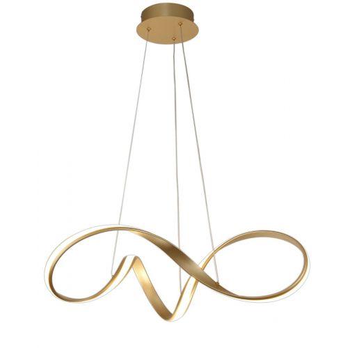 LED Ceiling Pendant Light Fitting Sand Gold Medium Lekki Bradley LEK3059