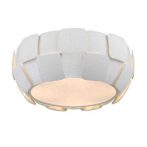 Impex PG504241/04/PL/WH Brigitte 4 Light Ceiling Flush White Frame