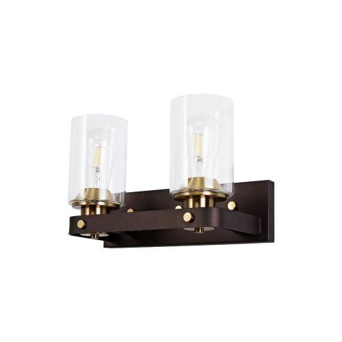 Wall Lamp 2 Light Brown Oxide/Bronze Brusen LEK3416