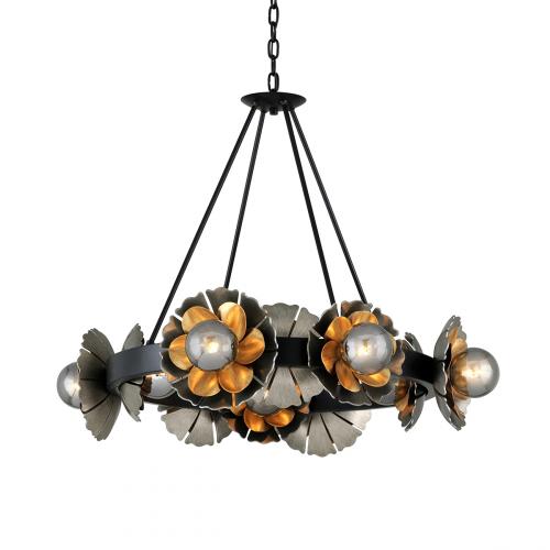 Ceiling Pendant 10 Light Black / Graphite / Bronze Corbett Magic Garden 278-010-CE