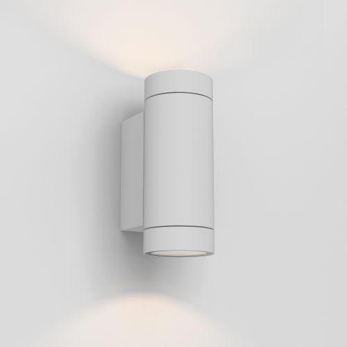 Astro Dartmouth Twin GU10 Outdoor Wall Light in Textured White 1372012