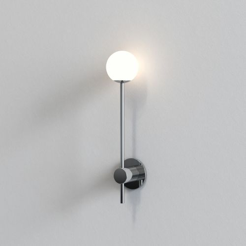 Astro Orb Single Bathroom Wall Light in Polished Chrome 1424002
