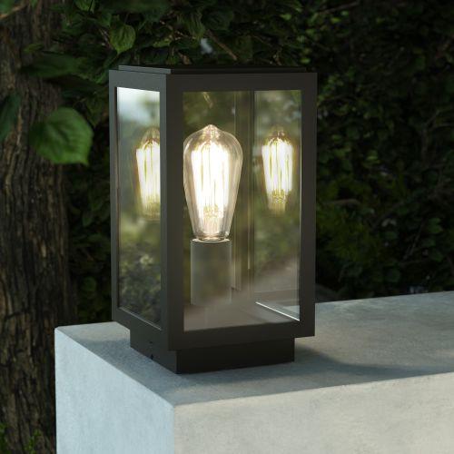 Astro Homefield Pedestal Outdoor Pedestal Light in Textured Black 1095036