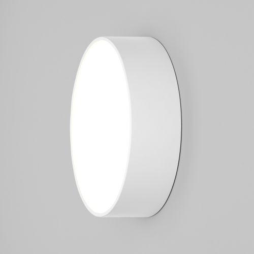 Astro Kea 250 Round Outdoor Wall Light in Textured White 1391003