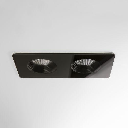 Astro Vetro Twin Bathroom Downlight in Black 1254018