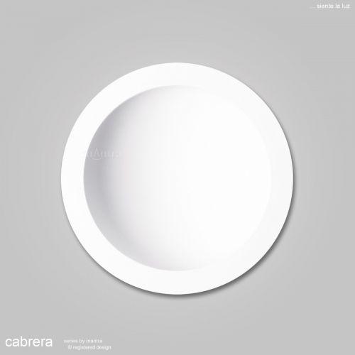 Mantra Cabrera 30cm Round Ceiling Downlight 30W LED 3000K 2550lm Matt White MC0049