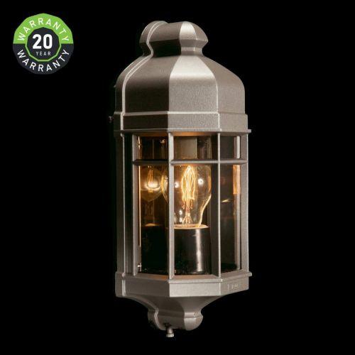 Noral Capri Mini Outdoor Wall Light Lantern Graphite NOR/7363103 20 Year Warranty