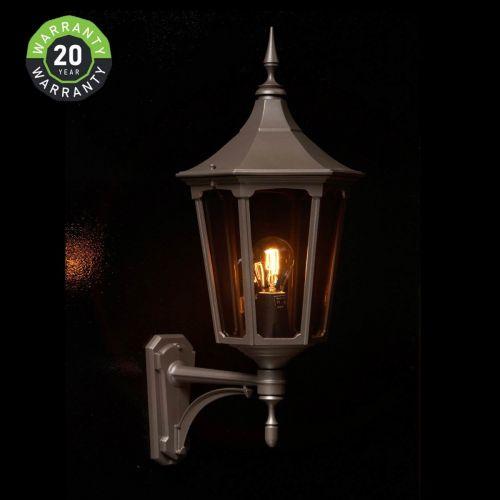 Noral Cardinal A Outdoor Wall Light Lantern Black NOR/710310 20 Year Warranty