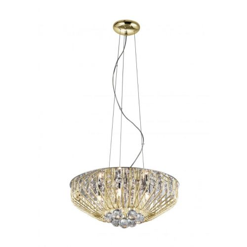 Impex Carlo CFH508052/06/G 6 Light Pendant Gold Ceiling Fitting