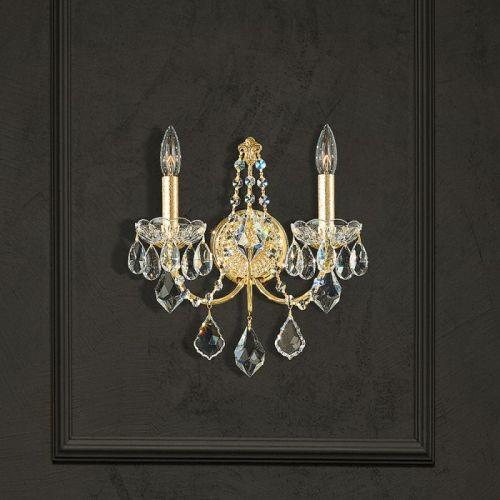 Schonbek 1702E-211 Century 2Lt Heritage Crystal Gold Wall Light