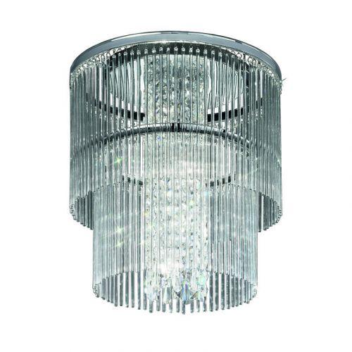 Flush Ceiling 4 Light Fitting Polished Chrome Allure LEK60057