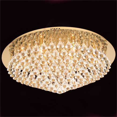 Impex Parma CFH011025/12/G 12 Light Gold Flush Ceiling Fitting