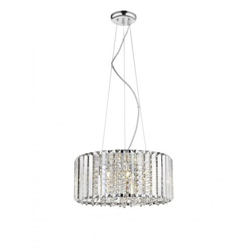 Impex CFH1925/06/CH Diore 6 Light Crystal Celling Pendant Chrome