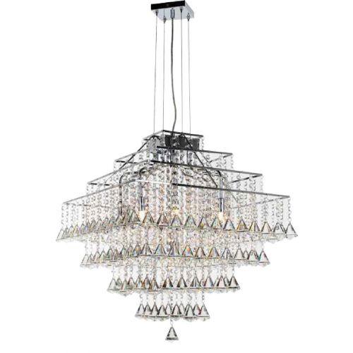Impex Parma CFH301171/10/CH 10 Light Pendant Chrome Ceiling Fitting