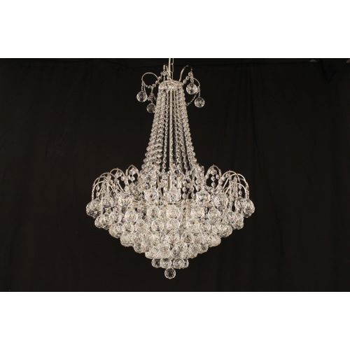 Impex Emmie 9 Light Chandelier Polished Chrome Clear Crystal IMP/CFH401091/09/CH