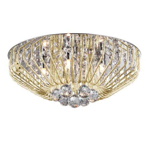 Impex Carlo CFH508052/05/PL/G 5 Light Flush Gold Ceiling Fitting