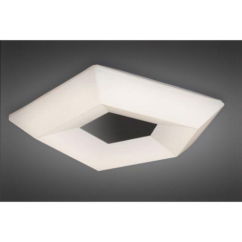 Mantra M3795 City Flush Ceiling Light 28W LED Large 3000K Polished Chrome White Acrylic