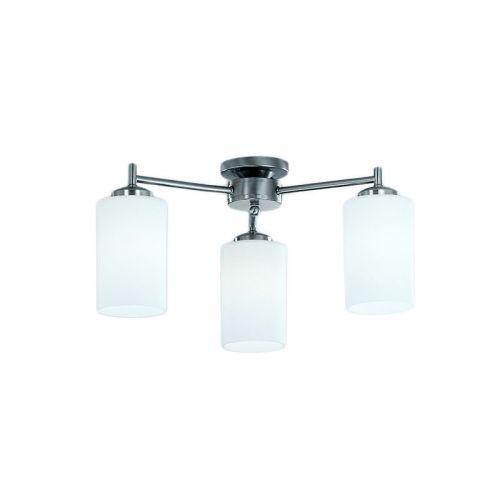 Semi-Flush 3 Light Ceiling Fitting Matt Nickel Nona LEK60171
