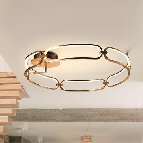 Schuller Colette 786508 LED Large Ceiling Flush Golden Frame