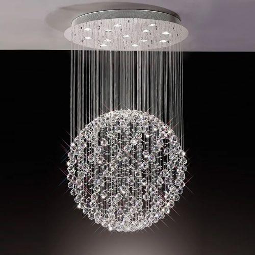 Diyas  Colorado 13 Light Large Sphere Pendant   Polished Chrome/Crystal IL30782