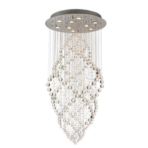 Diyas  Colorado 9 Light Oval Pendant  Polished Chrome/Crystal IL30784