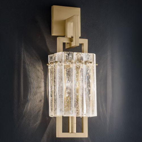 Masiero Crek Wall Light 1 x E14 Brushed Brass CREK-A1-G18