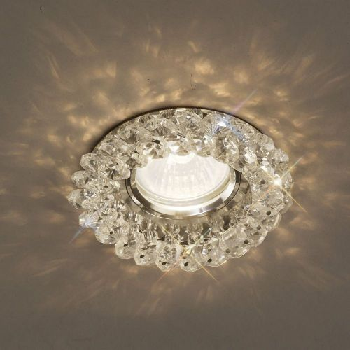 Diyas IL30805CH Crystal Cluster Recessed Downlight Round Rim Only Clear