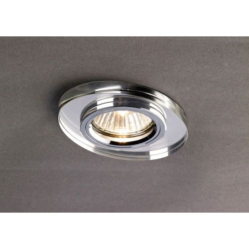Diyas IL30808CH Crystal Recessed Downlight Oval Rim Only Clear