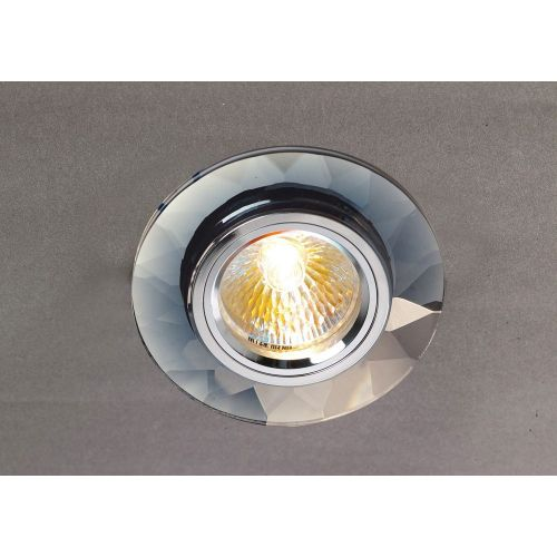 Diyas IL30816CH Crystal Recessed Downlight Chamfered Round Rim Only Clear Chrome