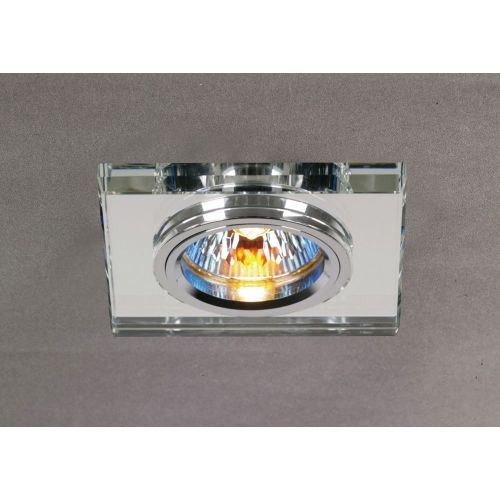 Diyas IL30817CH Crystal Recessed Downlight Shallow Square Rim Only Clear
