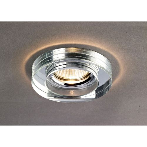 Diyas IL30821CH Crystal Recessed Downlight Deep Round Rim Only Clear