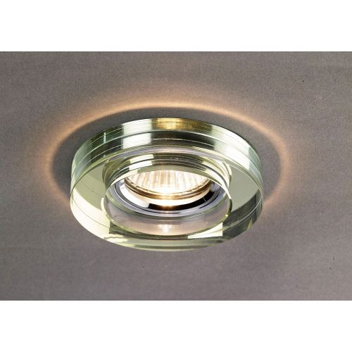 Diyas IL30821WI Crystal Recessed Downlight Deep Round Rim Only White Wine