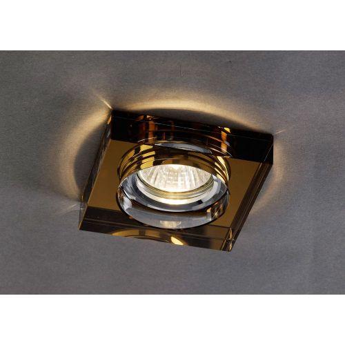 Diyas IL30822BZ Crystal Recessed Downlight Deep Square Rim Only Bronze