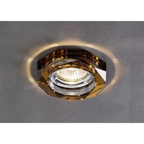 Diyas IL30823BZ Crystal Recessed Downlight Deep Hexagonal Rim Only Bronze