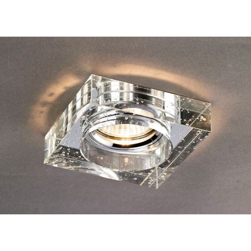 Diyas IL30832CH Crystal Bubble Recessed Downlight Square Rim Only Clear