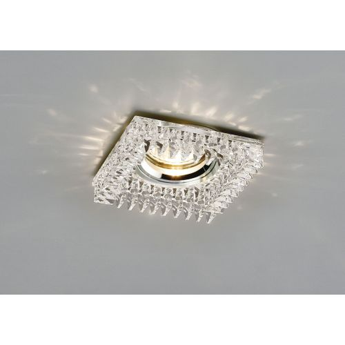Diyas IL30834CH Crystal Recessed Downlight Square Square Crystals Perimeter Rim Only Clear