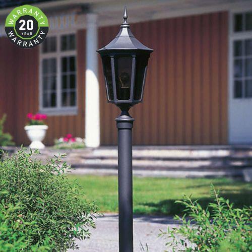 Noral Cardinal D4 Outdoor Bollard Lantern Black NOR/7102142 20 Year Warranty