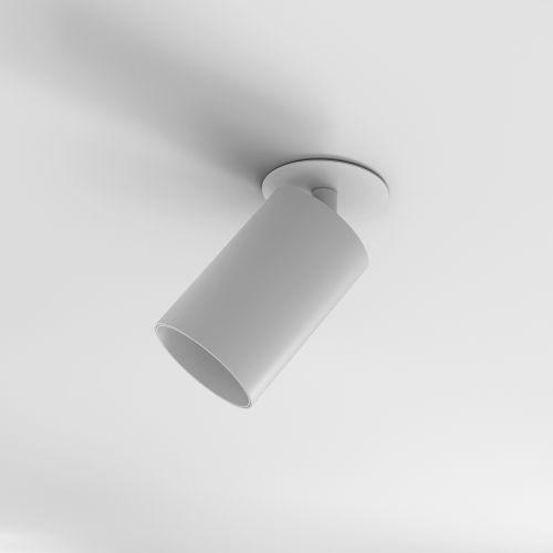 Astro Can 75 Recessed Indoor Spotlight in Matt White 1396010