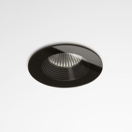 Astro Vetro Round Bathroom Downlight in Black 1254016