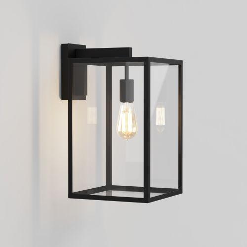 Astro Box Lantern 450 Outdoor Wall Light in Textured Black 1354007