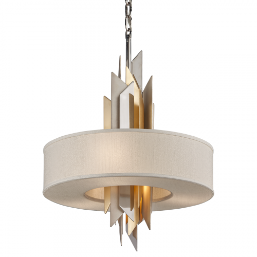 Ceiling Pendant 4 Light Silver / Gold Corbett Modernist 207-44-CE