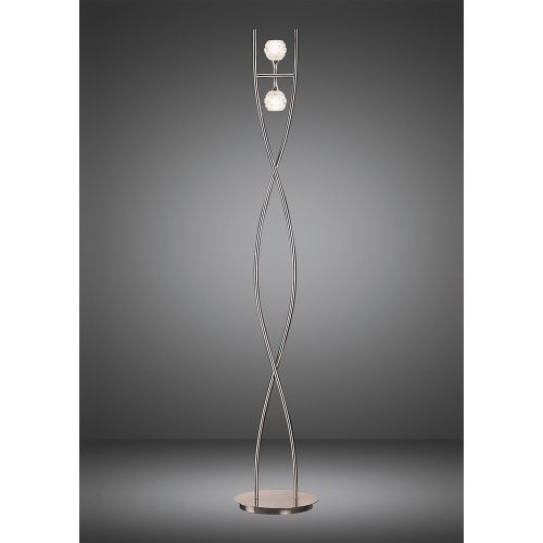 Mantra Dali 2 Light Polished Chrome Floor Lamp M0101