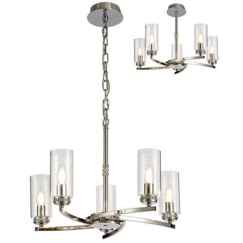 Semi Flush/Pendant Ceiling Light Fitting Nickel Lekki Dyani LEK3086