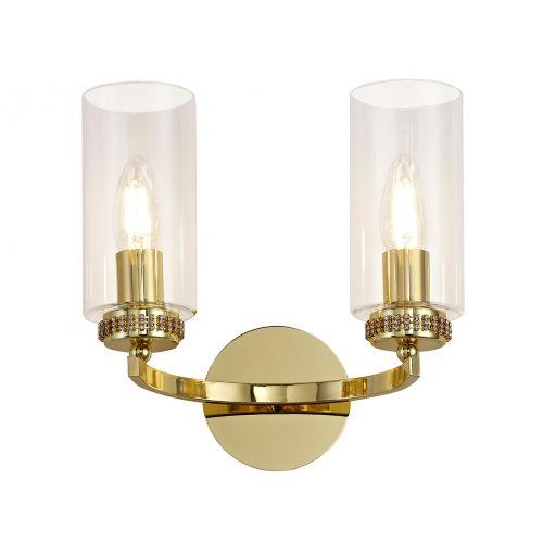 Switched Wall Lamp Gold Lekki Dyani LEK3094