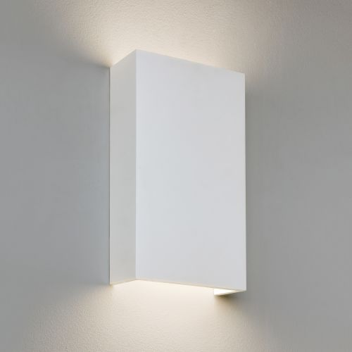 Astro Rio 190 LED Phase Dimmable Indoor Wall Light in Plaster 1325010