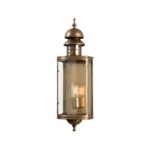 Elstead Solid Brass Wall Lantern Downing Street